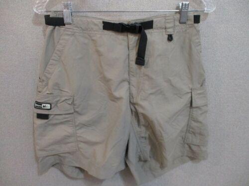 REI Belted Cargo Hiking Shorts Womens Size 8 100% Nylon UPF 30