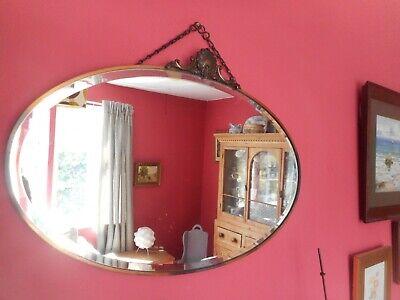 1920s Art Nouveau ,copper framed wall mirror,27