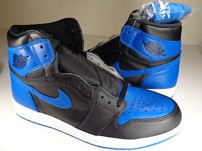Nike Air Jordan Retro 1 High OG Royal Blue Black White SZ 13 (555088-007)