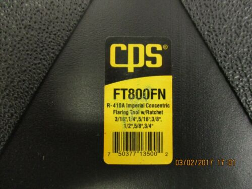 CPS CLUTCH DRIVEN FLARING TOOL W/RATCHET & CASE FT800FN