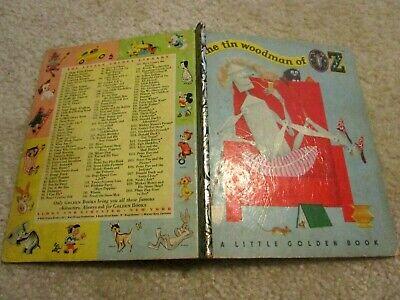 1952A 1st Little Golden THE TIN WOODMAN OF OZ L Frank Baum & Harry McNaught (The Tin Woodman Of Oz First Edition)