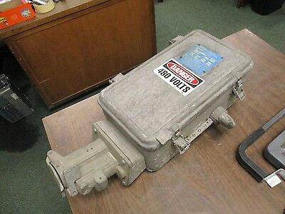 Crouse-hinds Explosion Proof Fusible Disconnect Switch Wsr6351 60a 600v 3p Used