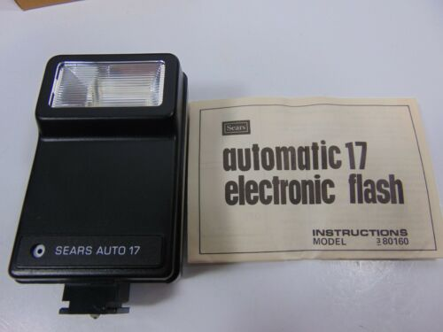 Vintage Sears Auto 17 Electronic Flash 8016 with Box and Instruction