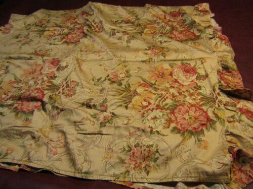 Ralph Lauren Guenivere Floral Sateen Ruffled Full Size 2pc Sheet Set *RARE*