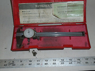 Machinist Tool Lathe Mill Mitutoyo Dial Caliper Gauge Gage In Case 0ds