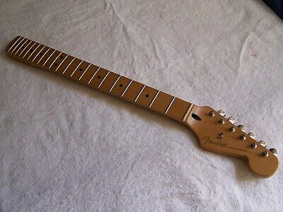 1996 Fender Mexican MIM Tex Mex Stratocaster neck maple tuners 6100 Dunlop frets