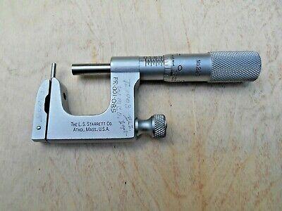 Starrett No. 220 Mul-t-anvil Micrometer 0-1 In. .001