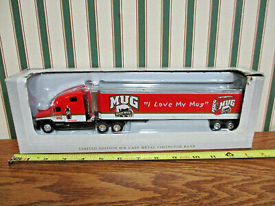 Mug Root Beer Freightliner Semi Bank With Van Trailer By SpecCast 1/64th Scale >