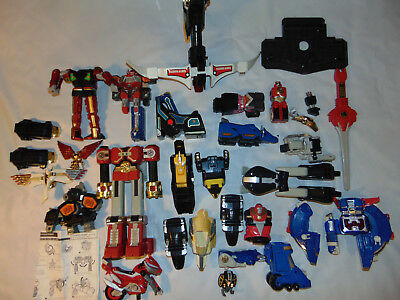 HUGE VINTAGE POWER RANGERS Voltron Sword Gun Pieces Lot Toy Part 94 97 and more - Power Ranger Toy Gun