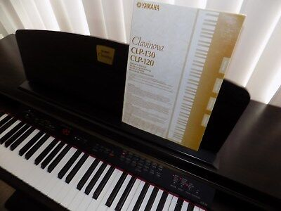 DIGITAL YAMAHA CLAVINOVA CLP-120 PIANO WITH BENCH(ROSEWOOD)-NEVER BEEN USED for sale  Encino