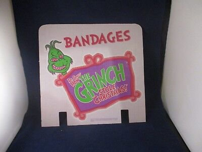 Dr. Seuss' How the Grinch Stole Christmas Bandages Promo Store Display 2000