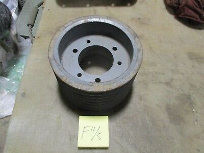 Used 7 Groove V-belt Pulley 9 Sheave 5.5 Wide 3-34 Bore Industrial