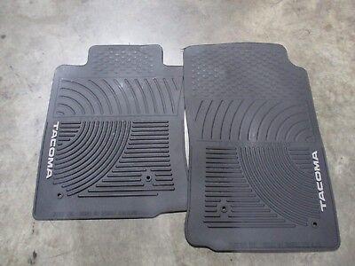 USED OEM FLOOR MATS BLACK PAIR ALL WEATHER TOYOTA TACOMA 05 11 AUTO TRANS