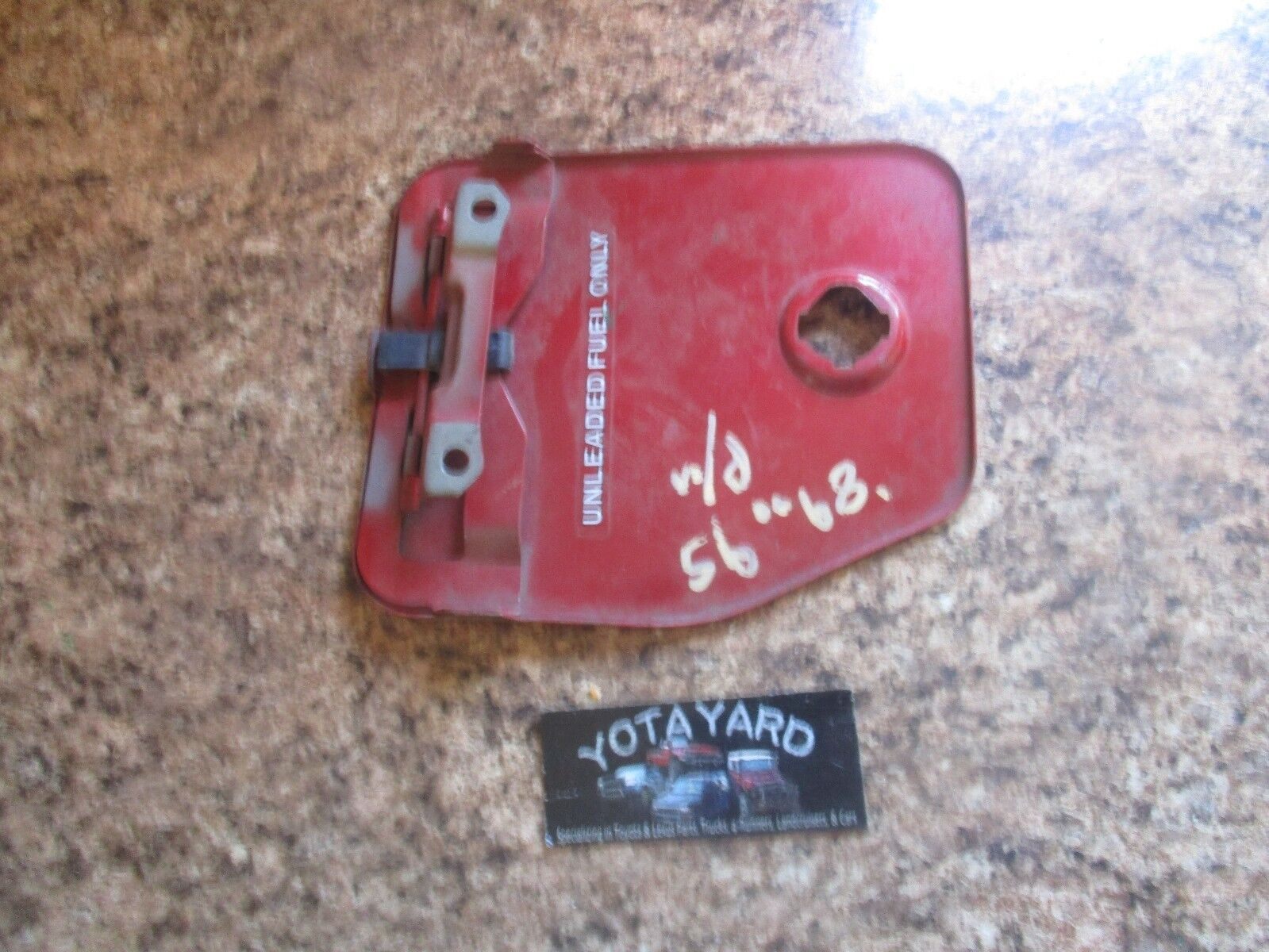1989 1995 toyota pickup fuel gas filler access door lid red oem yota yard