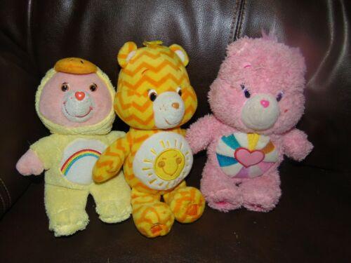 Lot of 3 Care Bears plush