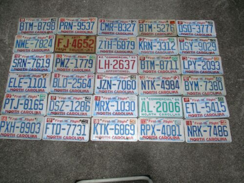 30 North Carolina license plate lot for collecting or decorating