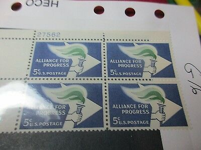 Us Stamp   Alliance For Progress  X 4   Unused