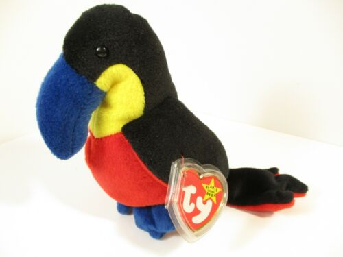 Kiwi Toucan 4th/3rd Generation 1995 PVC Retired Beanie Baby Collectible Mint