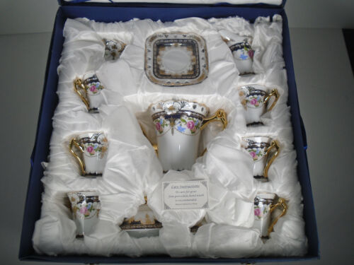Sorelle Fine Porcelain Service For 6, 15 Piece Tea Set Floral Design New in Box