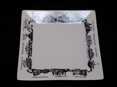Cincinnatti Ohio Plate Dish Skyline Hyde Park Taft Musuem Zoo River Krohn Stacks