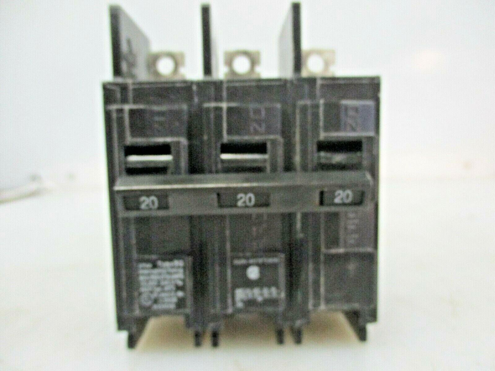 SIEMENS 3 POLE CIRCUIT BREAKER 20A BQ3B020 - $9.99