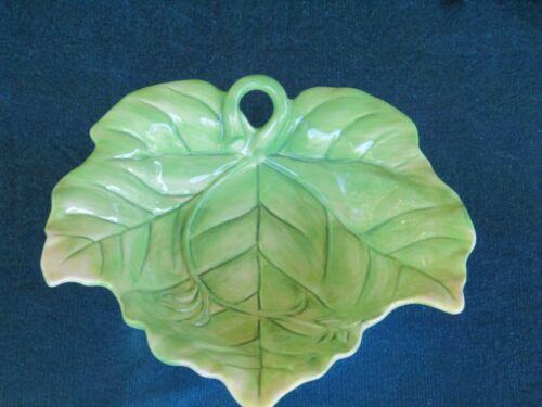 Fitz & Floyd Classics Green Leaf Design Plate or Candy Dish