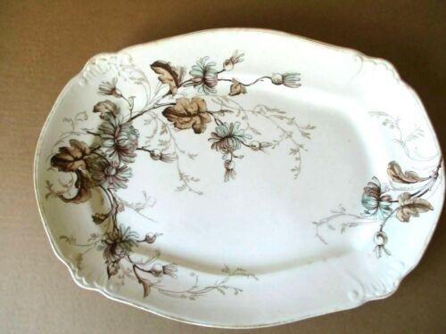 """Vintage Art Nouveau Oval """"Estrella"""" Serving Platter  Ridgway England  Antique"""