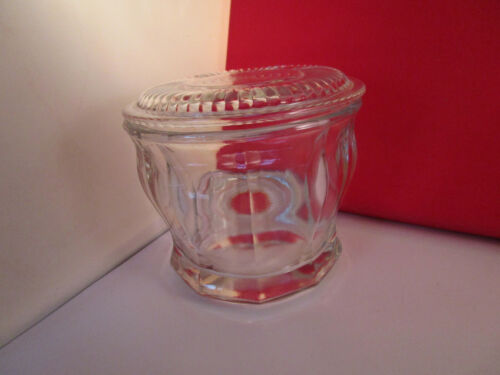 Vintage Clear Glass Biscuit Cookie Jar Canister