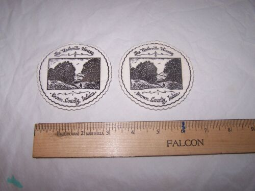 2 Vintage THE NASHVILLE HOUSE Paper Coasters BROWN COUNTY INDIANA
