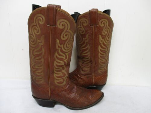 Tony, Lama, Brown, Snakeskin, Leather, Cowboy, Boots, Mens, Size, 9.5, D, Style, 8113, USA