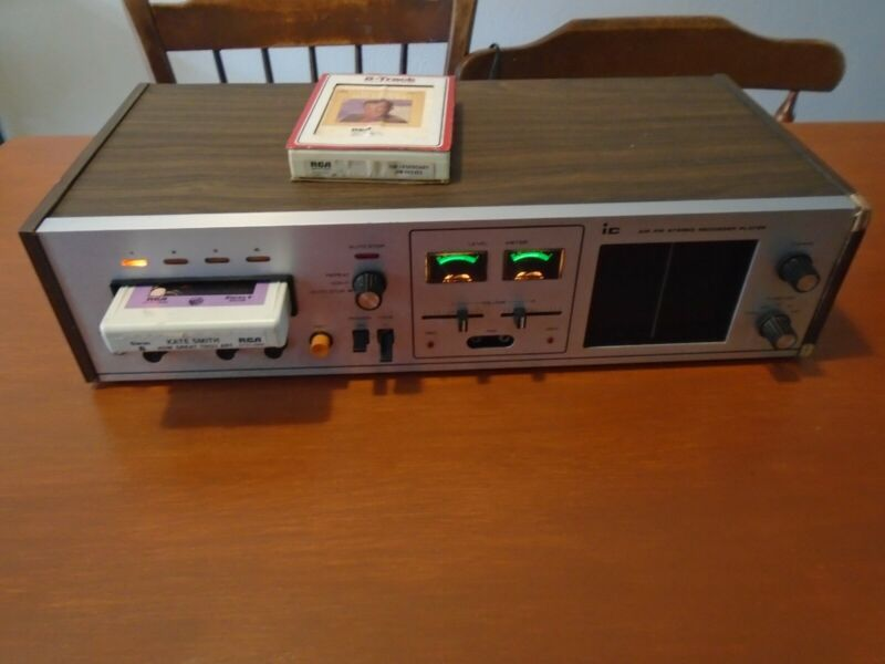 8 TRACK PLAYER SOLAR IC AM FM STEREO RECORDER PLAYER WITH TAPES TESTED WORKING