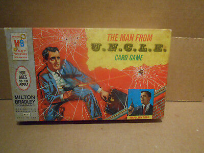Vintage The Man From Uncle Card Board Game Napoleon Solo Milton Bradley 1965