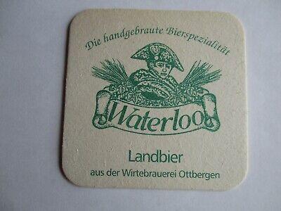Kalletal-Bavenhausen. einseitiger Bierdeckel der GHB Brauerei Waterloo