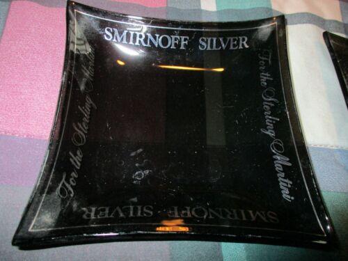 2 Smirnoff Silver Vodka Sterling Martini Ashtray Promotional Ash Tray Promo