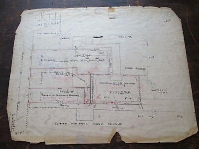 1890 Hand Drawn Survey, Boston National Bank, Mass Hospital Life Insurance Co.