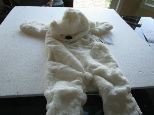 Pottery Barn Kids Halloween costume baby polar bear 6 12 months New