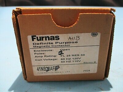 New Furnas 41nb20afp Contactor 2 Pole 110120v Coil