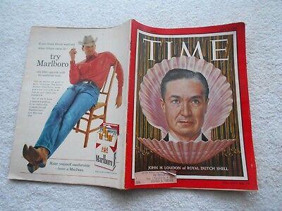 Time Magazine May 9 1960 John H  Loudon  Of Royal Dutch Shell