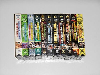 Vintage ULTIMATE FIGHTING CHAMPIONSHIP UFC 5 10 11 16 18 19 20 22 Video VHS Lot