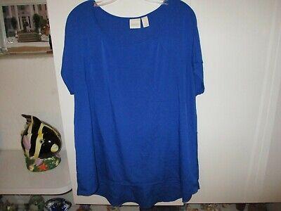 Bluse Cap (CHICO'S DEEP BLUE CAP SLEEVE BLOUSE SIZE 3)