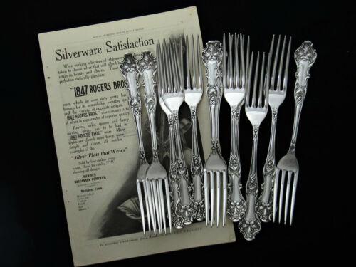 "❤️ CHARTER OAK 1847 ROGERS DINNER FORK 7 ½"" XS QUINTUPLE- SOLD BY PIECE"
