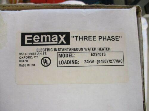 NIB Eemax Three Phase Tankless Water Heater     EX240T3