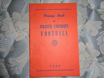 1946 SYRACUSE FOOTBALL MEDIA GUIDE Yearbook Program Press Book College AD
