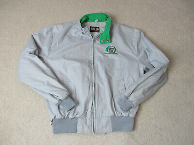 Used, VINTAGE Quaker State Racing Jacket Adult Large Gray Green Racer Coat Mens 90s * for sale  Pompano Beach