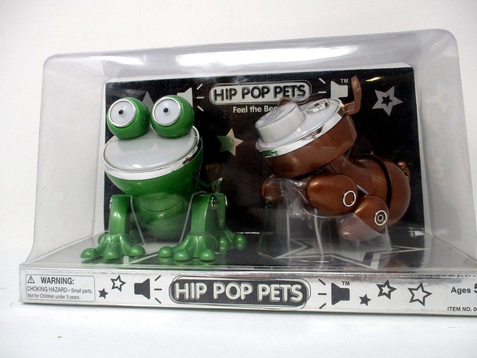 Silverlit Hip Pop Pets 2-Pack Pig & Frog MP3 Speaker System Lights & Sounds NIB