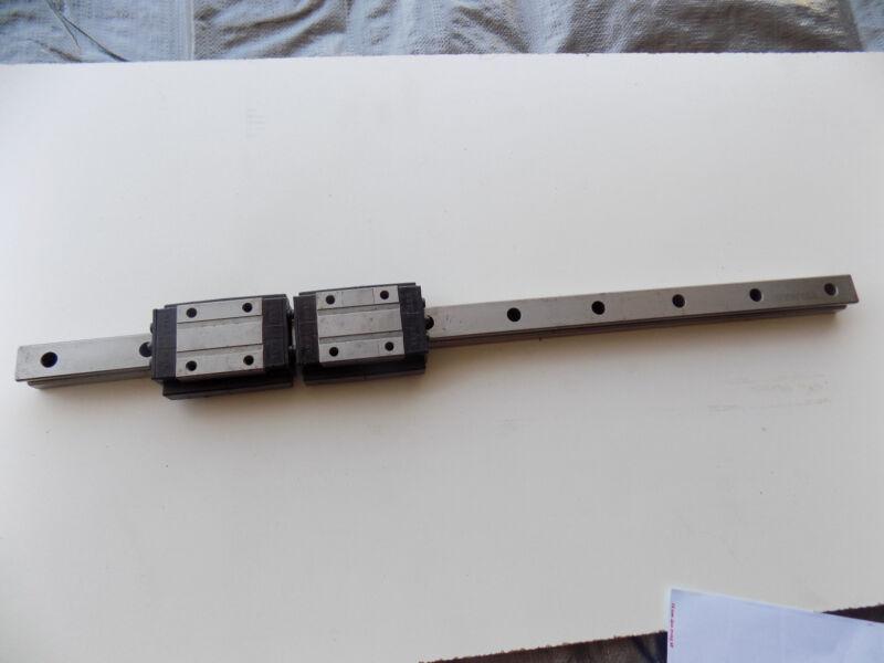 ROUNTER CNC LINEAR ACTUATOR slide rail 23 in long NBW-20TA bearing block A2