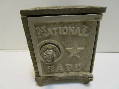 ANTIQUE CAST IRON NATIONAL SAFE BANK