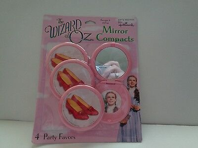 New The Wizard Of Oz Mirror Compacts 4 Party Favors By Hallmark Factory Sealed