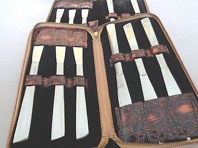 Steak knife sets with storage case 11 knives 2 cases