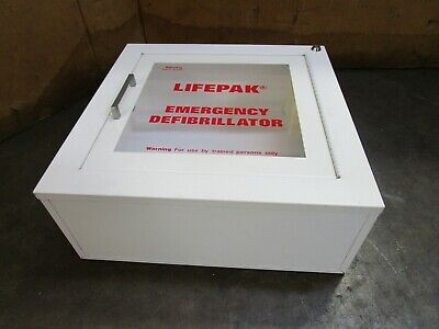 Physio-control Lifepak Surface Mount Cabinet W Audible Alarm For Defibrillator